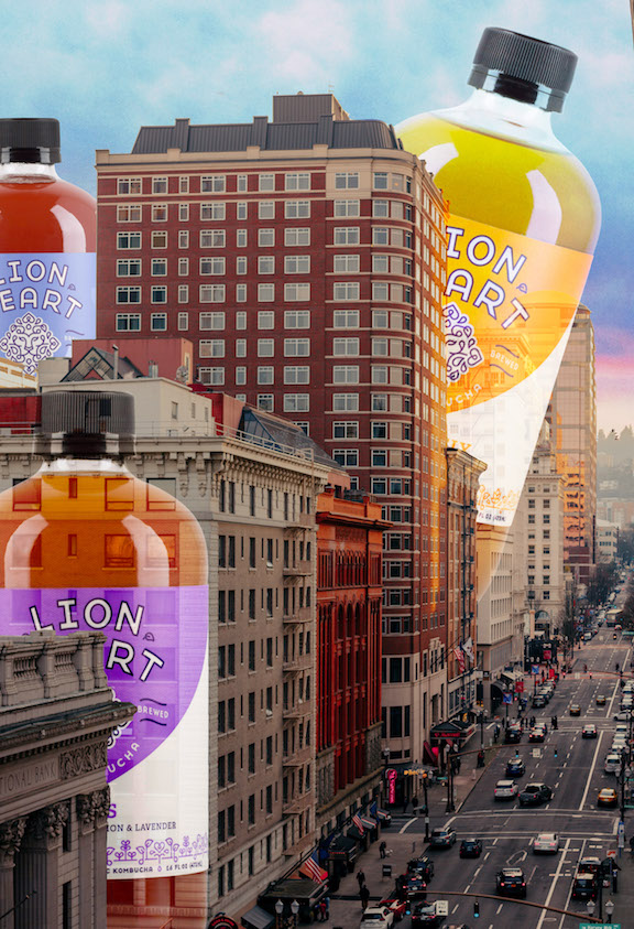 Drink Lion Heart Kombucha at your party or wedding.