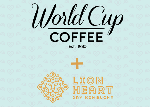 Get Lion Heart Kombucha in your office through World Cup Coffee service